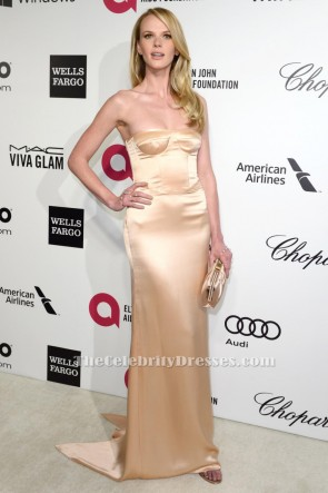 Anne Vyalitsyna Strapless Evening Gown Elton John Oscars Party 2014 TCD6438