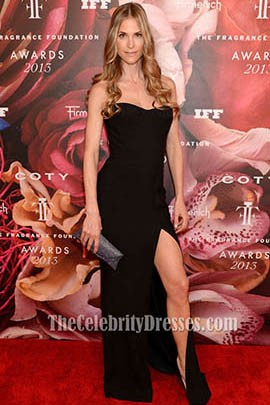 Annelise Peterson Black Prom Dress 2013 Fragrance Foundation Awards