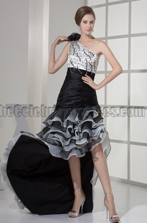 Asymmetry One Shoulder Formal Gown Evening Prom Dresses