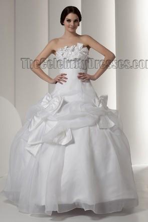 Ball Gown Floor Length Strapless Wedding Dress Bridal Gown