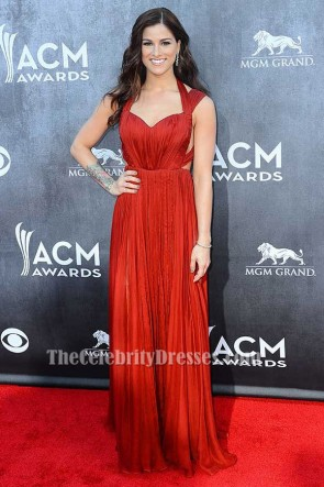 Cassadee Pope Backless Evening Formal Dress ACM Awards 2014 Red Carpet TCD6209
