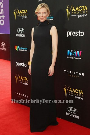Cate Blanchett Black Evening Dress 5th AACTA Awards Red Carpet Gown TCD6464