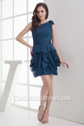 Celebrity Inspired Short One Shoulder Party Homecoming Dresses