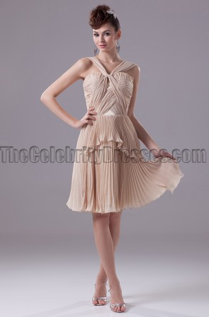 Champagne Short Cocktail Party Homecoming Dresses
