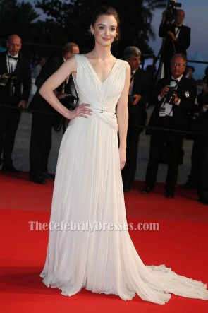 Charlotte Le Bon Ivory Formal Dress Cannes Film Festival 2015 Red Carpet Gown TCD6223