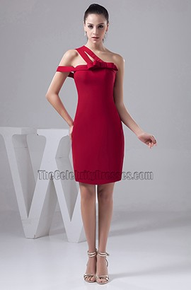 Chic Sheath/Column Short Burgundy Party Homecoming Dresses