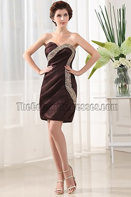 Chic Short Sweetheart Beaded Party Graduation Cocktail Dresses