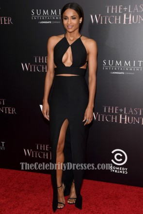 Ciara Sexy Black Evening Dress 'The Last Witch Hunter' New York Premiere TCD6354