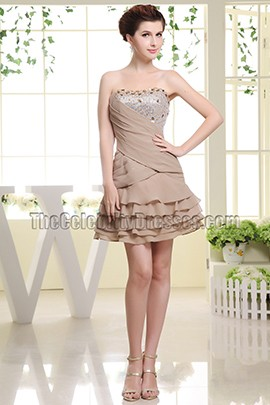 Cute Mini Party Dress Short Homecoming Dresses With Beading