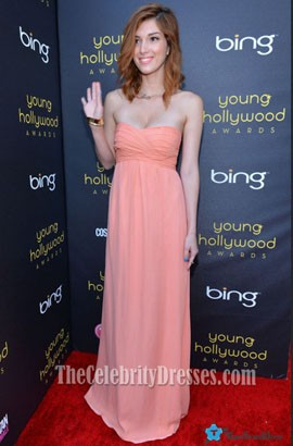 Celebrity Dani Thorne Strapless Prom Dress Young Hollywood Awards Red Carpet