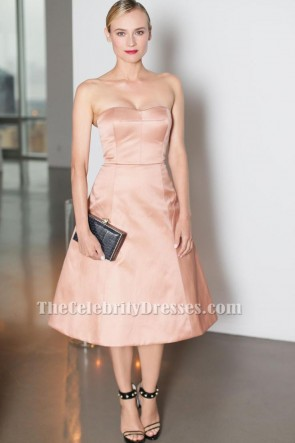 Diane Kruger A-Line Cocktail Dress Young Friends of ACRIA Summer Soiree TCD6530