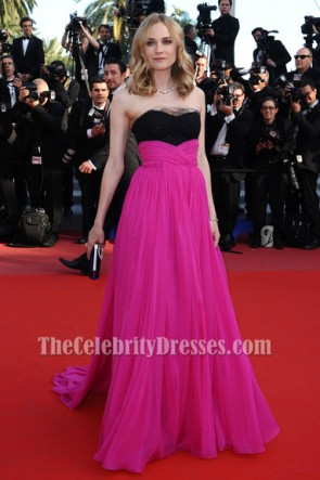 Diane Kruger Long Strapless Formal Dress 63rd Annual Cannes Film Festival Red Carpet Gown TCD6153
