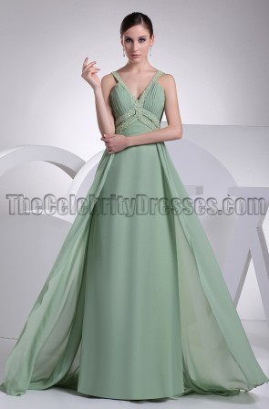 Discount A-Line Chiffon Bridesmaid Prom Evening Dresses
