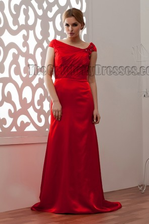 Discount Sheath/Column Red Prom Gowns Evening Dress