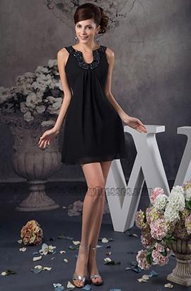 Discount Short Mini Black Chiffon Party Homecoming Dresses