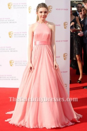Eleanor Worthington Cox Pink Evening Dress Cox Academy Television Awards 2016 Gown TCD6676