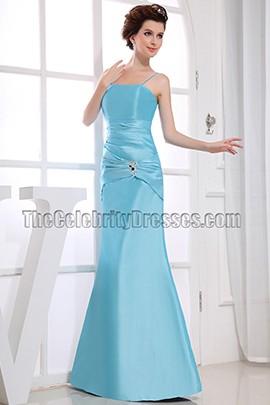 Elegant Blue Spaghetti Straps Bridesmaid Dress Prom Dresses