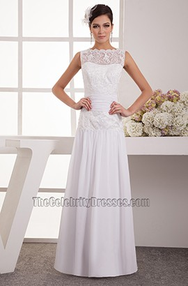 Elegant Floor Length Chiffon Embroidery Wedding Dresses