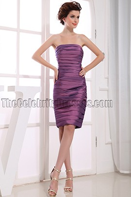 Sheath Column Strapless Party Dress Cocktail Dresses