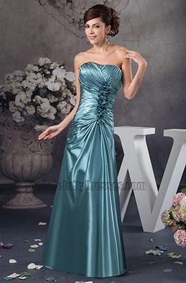 Elegant Strapless Floor Length Bridesmaid Prom Dresses
