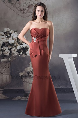 Elegant Strapless Formal Gown Mother of Bride Dresses