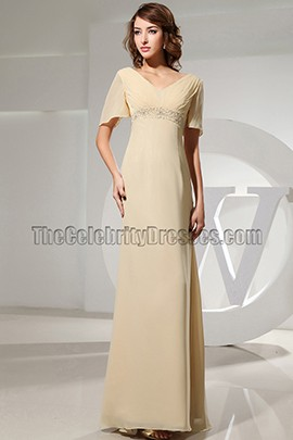 Elegant V-neck Chiffon Formal Dress Evening Prom Gown