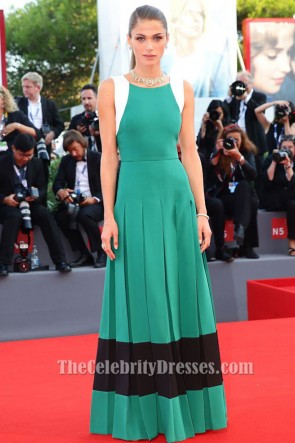 Elisa Sednaoui Color Block Formal Dress 'Lao Pao Er' Venice Film Festival Premiere TCD6301