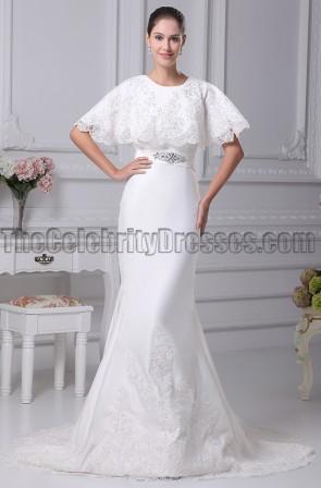 Elegant Embroidery Trumpet / Mermaid Wedding Dresses