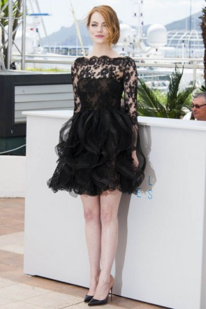 Emma Stone Little Black Dress Cannes Film Festival 2015 TCD6075