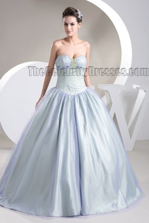 Floor Length Sweetheart Strapless Lace Up Ball Gown Wedding Dress