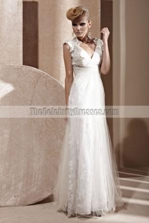 Floor Length White V-Neck Formal Dress Evening Gown