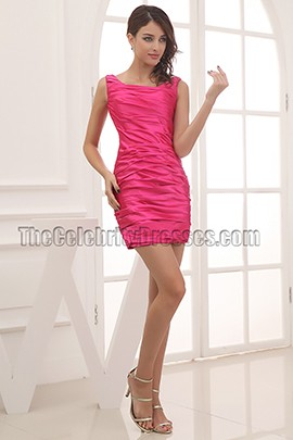 Fuchsia Sheath Mini Party Homecoming Cocktail Dresses