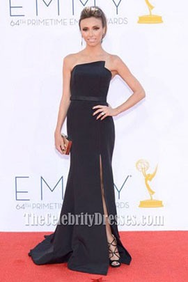 Giuliana Rancic Black Mermaid Formal Dress 2012 Emmy Awards Red Carpet
