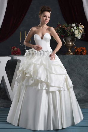 Glamorous Floor Length Ball Gown Strapless Wedding Dresses