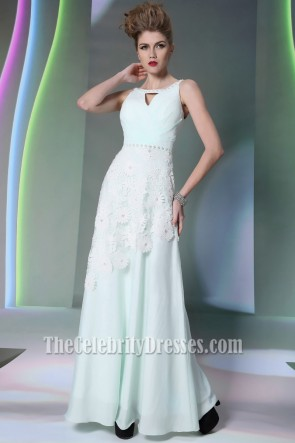 Gorgeous Cut Out Beaded Floor Length Prom Dress Evening Gown