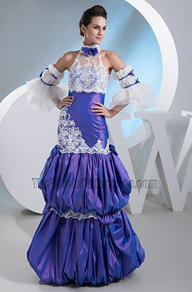 Gorgeous High Neck A-Line Formal Dress Evening Prom Gown