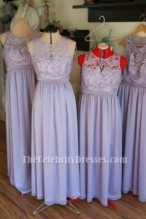 Gorgeous Lavender Sleeveless Bridesmaid Dresses Prom Evening Gown TCD6233