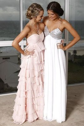 Gorgeous Long A-Line Chiffon Prom Dress Evening Bridesmaid Dresses