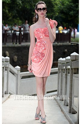 Gorgeous Short One Shoulder Graduation Party Homecoming Dress