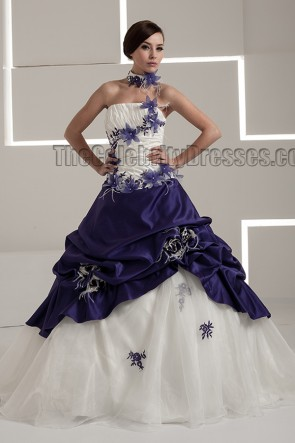 Gorgeous Strapless A-Line RufflesTaffeta Wedding Dress