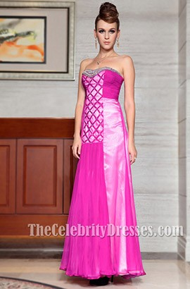 Gorgeous Strapless Chiffon Prom Gown Evening Formal Dresses