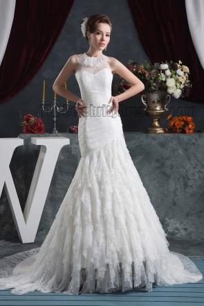 Gorgeous Trumpet/Mermaid Lace Chapel Train Wedding Dress