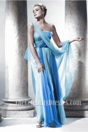Grace Kelly Blue Chiffon Prom Dress In The Movie To Catch a Thief