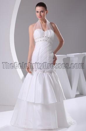 Gorgeous Halter Mermaid Wedding Dresses