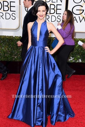 Julia Goldani Telles Royal Blue A-Line Formal Dress Golden Globe Awards 2015 TCD6194