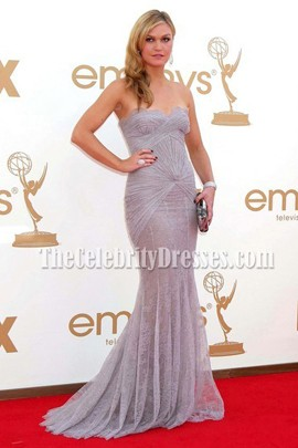 Julia Stiles Lace Strapless Prom Dress Evening Gown Emmy Awards 2011 Red Carpet
