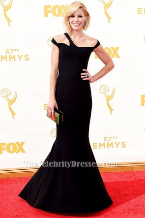 Julie Bowen Black Evening Dress 2015 Emmy Awards Red Carpet TCD6344