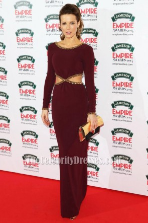 Kate Beckinsale Burgundy Evening Prom Dresses Jameson Empire Awards 2014 TCD6221