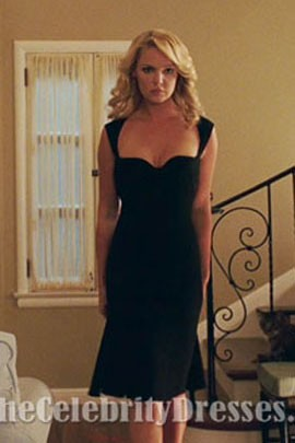 Katherine Heigl Black Cocktail Dress In 'The Ugly Truth' Celebrity Prom Dresses