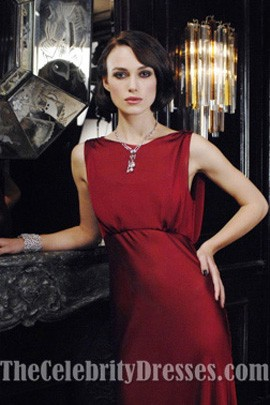 Keira Knightley Red Evening Dress for Coco Mademoiselle Prom Dresses